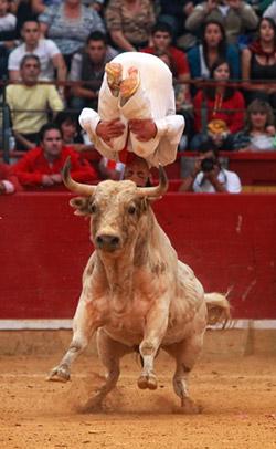 Nicolas Vergonzeanne en la plaza de toros de Zaragoza
