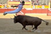 Un especialista realizando un salto del ángel el pasado año en Tudela   Foto: E. del Campo