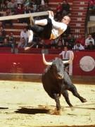 La arriesgada suerte del balancín se llevará a cabo frente a un toro. Foto: Blas Pardo.