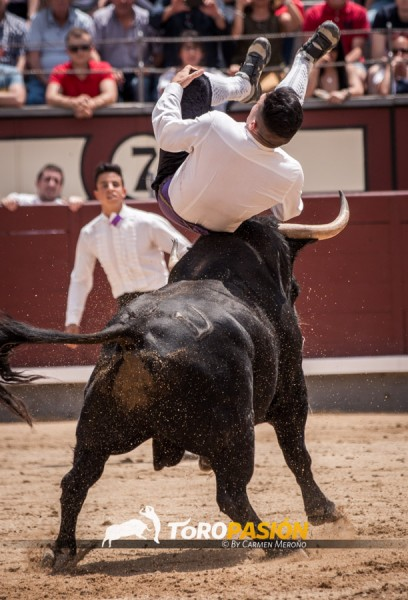 Eusebio Sacristán 'Use' en un salto espectacular el pasado 4 de junio.