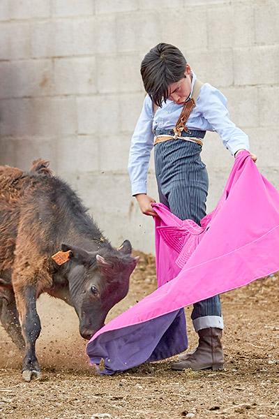 El riojano Alberto Donaire, con tan solo 12 años, levanta mucha expectación por su concepto del toreo
